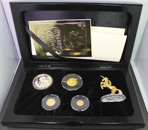 Click now to see the BUY IT NOW Price! 1994 CHINA 4 COIN UNICORN PROOF SET  W/BOX COA FIGURINE AND LEGEND BOOK