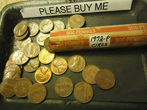 1972 P LINCOLN CENT ROLL              >> C/S & H <<