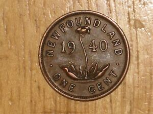 NEWFOUNDLAND 1940 SMALL CENT COIN FINE NICE