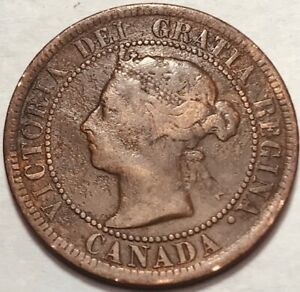CANADA   QUEEN VICTORIA   LARGE CENT   1888   KM 7   HOLE FILLER