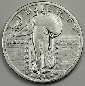 1926 P STANDING LIBERTY QUARTER.  HIGH GRADE.  87031 INV.A