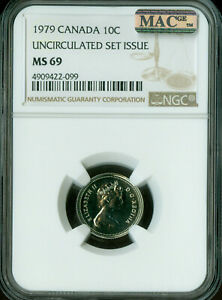 Click now to see the BUY IT NOW Price! 1979 CANADA 10 CENTS NGC MAC MS 69 PQ FINEST GRADE SPOTLESS POP 2