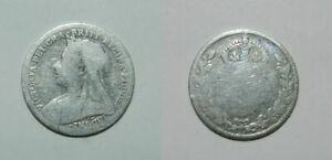 QUEEN VICTORIA SILVER THREEPENCE 1900