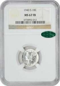 Click now to see the BUY IT NOW Price! 1940 S MERCURY DIME MS67FB NGC  CAC