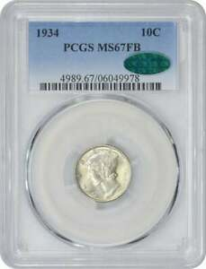 Click now to see the BUY IT NOW Price! 1934 P MERCURY DIME MS67FB PCGS  CAC