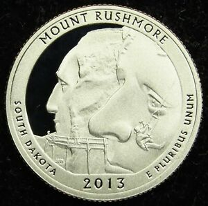 2013 S DEEP CAMEO CLAD PROOF MOUNT RUSHMORE AMERICA THE BEAUTIFUL QUARTER  B03