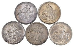 LOT  5  1925 STONE MOUNTAIN COMMEMORATIVE HALF DOLLARS  3019