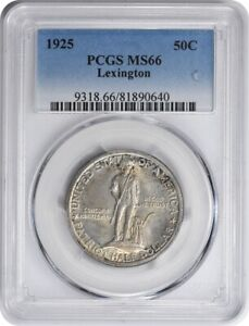 Click now to see the BUY IT NOW Price! LEXINGTON COMMEMORATIVE SILVER HALF DOLLAR 1925 MS66 PCGS