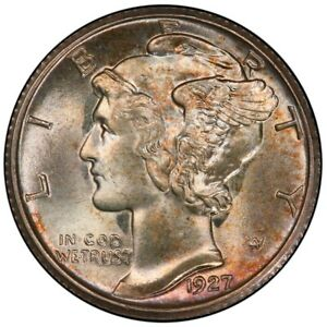 Click now to see the BUY IT NOW Price! 1927 S 10C MERCURY DIME PCGS MS66 FB  CAC