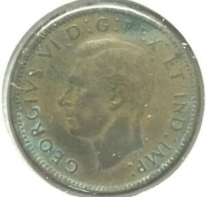1944 George VI Small Cent Mintage, Photos, Specifications