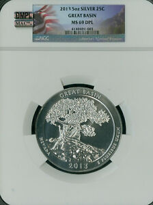 Click now to see the BUY IT NOW Price! 2013 GREAT BASIN QUARTER 5 OZ NGC MAC MS69 DPL DMPL FINEST REGISTRY SPOTLESS