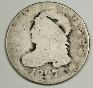 1827 BUST DIME.  CIRCULATED.  140185