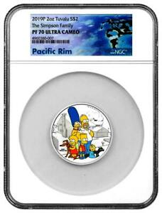 Click now to see the BUY IT NOW Price!  2019 $2 TUVALU SIMPSON FAMILY 2OZ .9999 SILVER PROOF COIN NGC PF70 ULTRA CAMEO