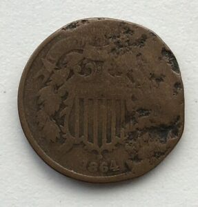 1864 2 CENT PIECE CIRCULATED CCC247