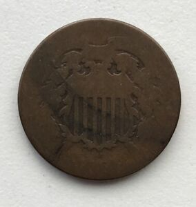 1864 2 CENT PIECE CIRCULATED CCC248