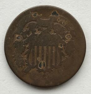1864 2 CENT PIECE CIRCULATED CCC250