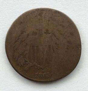 1865 2 CENT PIECE CIRCULATED CCC256