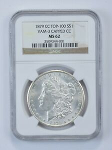 Click now to see the BUY IT NOW Price! MS62 1879 CC MORGAN SILVER DOLLAR   TOP 100   VAM 3 CAPPED CC   GRADED NGC  4819