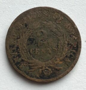 1864 2 CENT PIECE HOLED CCC283