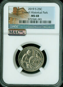 Click now to see the BUY IT NOW Price! 2019 S LOWELL PARK QUARTER NGC MAC MS68 PQ SOLO FINEST GRADED 8 X R THAN W