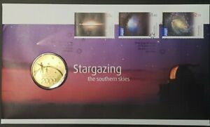 2009 AUSTRALIA $1 UNC COIN PNC STARGAZING THE SOUTHERN SKIES