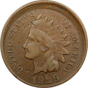 1906 INDIAN CENT FLIPOVER DOUBLE STRIKE PCGS VF25 CONECA FEATURED ULTRA