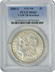 Click now to see the BUY IT NOW Price! 1888 O VAM 1B MORGAN SILVER DOLLAR SCARFACE MS63 PCGS