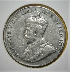 CANADA 5 CENTS 1935 LY FINE COIN   KING GEORGE V
