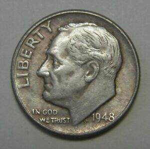 1948 D SILVER ROOSEVELT DIME AVERAGE CIRCULATED CONDITION PRICED RIGHT FREE S&H