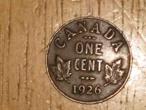 CANADA 1926 SMALL CENT COIN FINE NICE BETTER DATE