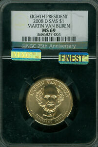 Click now to see the BUY IT NOW Price! 2008 D MARTIN VAN BUREN PRES. DOLLAR NGC MAC MS69 SMS PQ FINEST POP 9 SPOTLESS