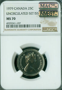 Click now to see the BUY IT NOW Price! 1979 CANADA 25 CENTS NGC MS 70 MAC FINEST VMAC SPOTLESS