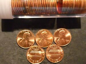 1980 D LINCOLN CENT PENNY CHOICE/GEM BU ROLL UNCIRCULATED