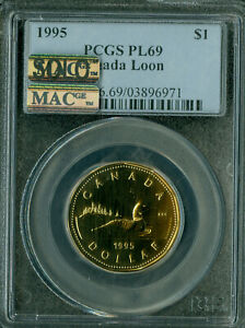 Click now to see the BUY IT NOW Price! 1995 CANADA $1 LOON  PCGS MAC PL 69 PQ FINEST GRADED  SPOTLESS