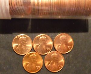 1975 D LINCOLN CENT PENNY CHOICE/GEM BU ROLL UNCIRCULATED