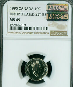 Click now to see the BUY IT NOW Price! 1995 CANADA 10 CENTS NGC MAC MS 69 PQ FINEST GRADE SPOTLESS POP 2