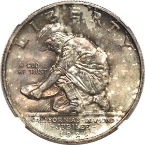 Click now to see the BUY IT NOW Price! 1925 S CALIFORNIA DIAMOND JUBILEE COMMEMORATIVE MINT STATE 64 NGC 50C C00035493