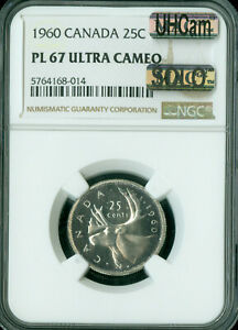 Click now to see the BUY IT NOW Price! 1960 CANADA 25 CENTS NGC PL67 ULTRA HEAVY CAM MAC SOLO FINEST GRADE SPOTLESS