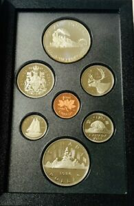 CANADA 1986 SILVER DOUBLE DOLLAR PROOF SET WITH COA   TRANSCONTINENTAL RAILROAD