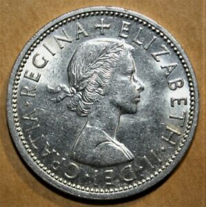 GREAT BRITAIN 2 SHILLINGS 1967 CHOICE UNCIRCULATED COIN   QUEEN ELIZABETH II