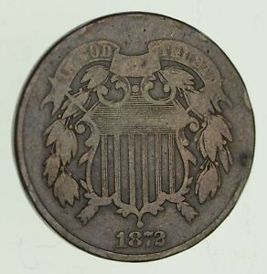 1872 TWO CENT PIECE   CIRCULATED  2824