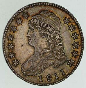 1811 CAPPED BUST HALF DOLLAR   SMALL 8 NEAR UNCIRCULATED  4861