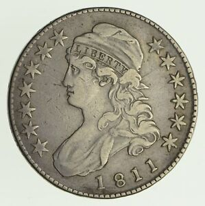 1811 CAPPED BUST HALF DOLLAR   CIRCULATED  4156