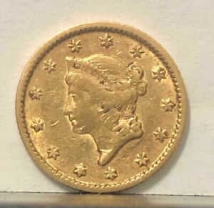 ATTRACTIVE 1851 LIBERTY HEAD $1 USA GOLD GOLD  PRICED RIGHT  HISTORIC CLASSIC