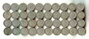 LIBERTY NICKEL ROLL   MIXED DATE   G G    40 COINS