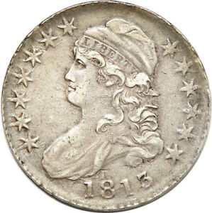1813 CAPPED BUST HALF DOLLAR LY FINE  ABRASION  50C C00045121