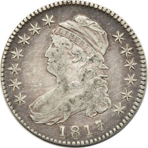 1817 CAPPED BUST HALF DOLLAR FINE  CLEANED  50C C00045120