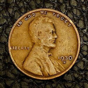 1930 D LINCOLN WHEAT CENT IN GOOD  GD  CONDITION   $20 ORDERS SHIP FREE