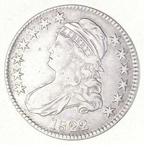 1822 CAPPED BUST HALF DOLLAR   O 105  2526