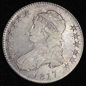 1817 CAPPED BUST HALF DOLLAR CHOICE VF   E348 KCNM